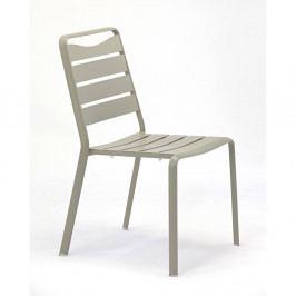 Sada 4 šedých zahradních židlí z hliníku Ezeis Spring