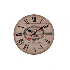 Růžové hodiny Antic Line Parfumer, ⌀34cm