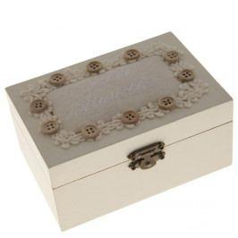 Dřevěná krabice na šití Antic Line Buttons