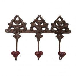 Věšák s 3 háčky Antic Line Vintage Keys