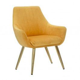 Oranžová polstrovaná židle s područkami Mauro Ferretti Poltrona
