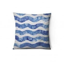 Sametový povlak na polštář Azul Waves Duro, 43 x 43 cm