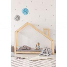 Domečková postel z borovicového dřeva Adeko Mila DMS,135x190cm