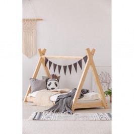 Domečková postel z borovicového dřeva Adeko Mila TP, 80x160cm