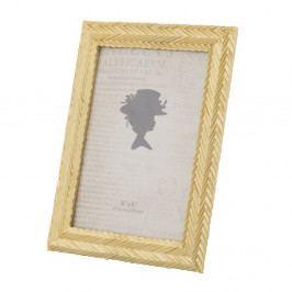 Žlutý fotorámeček v pryskyřicovém rámu Mauro Ferretti Stick Glam, 15 x 20 cm