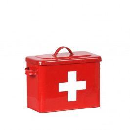 Červená plechová dóza LABEL51 Firt Aid