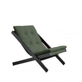 Olivově zelené skládací křeslo z bukového dřeva Karup Design Boogie Black/Olive Green
