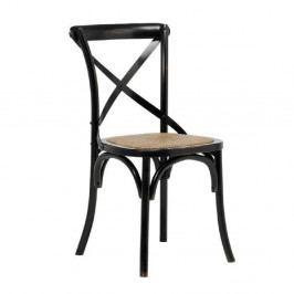 Černá jídelní židle Interstil Vintage