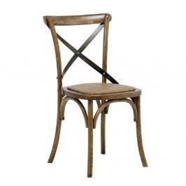 Hnědá jídelní židle Interstil Vintage
