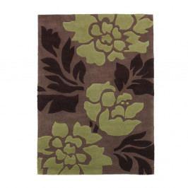 Koberec Hongkong Brown Green, 120x170 cm