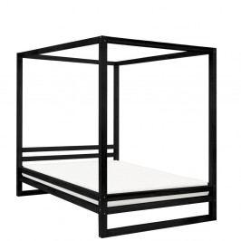 Černá dřevěná dvoulůžková postel Benlemi Baldee, 200x160cm
