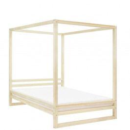 Dřevěná dvoulůžková postel Benlemi Baldee Naturelle, 200x160cm