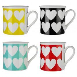 Sada 4 barevných hrnků Premier Housewares Herts, 342ml