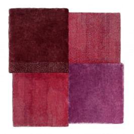 Červený koberec EMKO Over Square, 200 x 207 cm