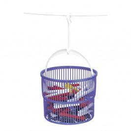 Set 30 kolíčků na prádlo a fialového koše na kolíčky Wenko Peg