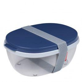 Salátový box s tmavě modrým víkem Rosti Mepal Ellipse