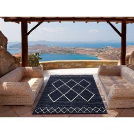 Modrý koberec vhodný i na ven Universal Elba, 80 x 150 cm