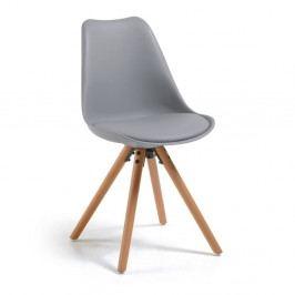 Šedá židle s bukovými nohami loomi.design Lumos