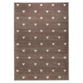 Hnědý koberec s puntíky KICOTI Beige Dots, 160 x 230 cm