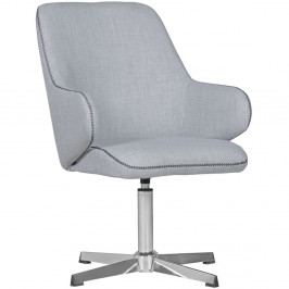 Světle šedá jídelní židle Skyport Wohnling Yuma