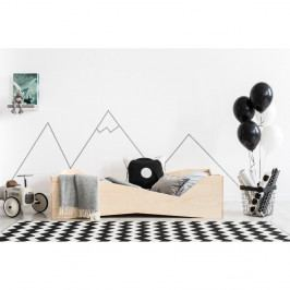 Dětská postel z borovicového dřeva Adeko BOX 5, 80x200 cm