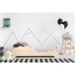 Dětská postel z borovicového dřeva Adeko BOX 9, 80x150 cm