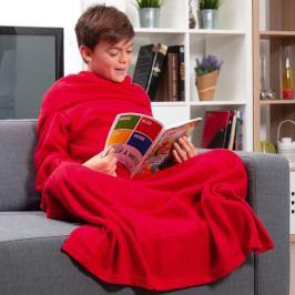 Extra měkká červená dětská deka srukávy InnovaGoods