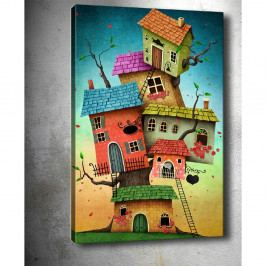 Obraz Tablo Center Tree Houses, 40 x 60 cm