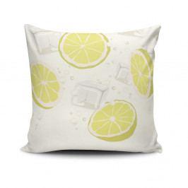 Povlak na polštář s příměsí bavlny Cushion Love Lemons, 45 x 45 cm