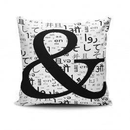 Povlak na polštář s příměsí bavlny Cushion Love Letter, 45 x 45 cm