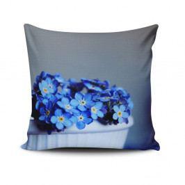 Polštář s příměsí bavlny Cushion Love Azul Gris, 45 x 45 cm