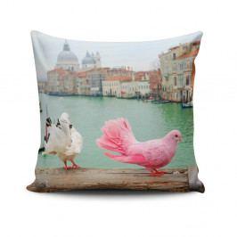 Polštář s příměsí bavlny Cushion Love Herisso, 45 x 45 cm