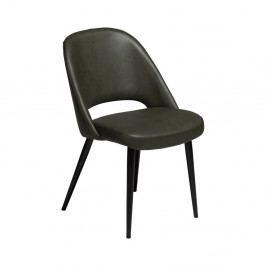 Tmavě zelená jídelní židle z eko kůže DAN–FORM Denmark Grace