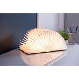 Hnědá LED stolní lampa ve tvaru knihy Gingko Large