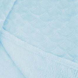 Světle tyrkysová deka z mikrovlákna DecoKing Sardi, 70 x 150 cm