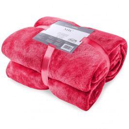 Červená deka z mikrovlákna DecoKing Mic, 160x210cm