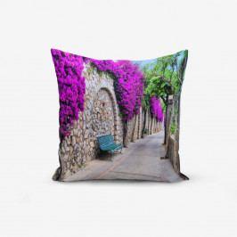 Povlak na polštář s příměsí bavlny Minimalist Cushion Covers Purple Street, 45 x 45 cm