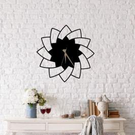 Černé nástěnné hodiny Floya Clock, ⌀ 49 cm