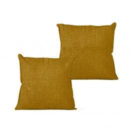 Povlak na polštář Linen Couture Mustard, 45 x 45 cm