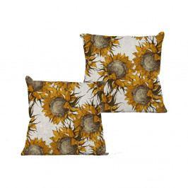 Polštář Linen Couture Sunflower, 45 x 45 cm