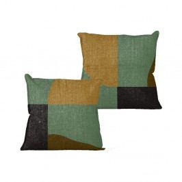 Polštář Linen Couture Color Blocks, 45 x 45 cm