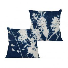 Polštář Linen Couture Blue Spots, 45 x 45 cm