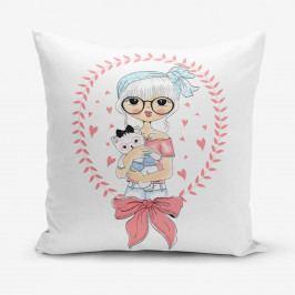 Povlak na polštář s příměsí bavlny Minimalist Cushion Covers Cat Lover, 45 x 45 cm