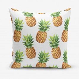 Povlak na polštář s příměsí bavlny s motivem ananasů Minimalist Cushion Covers, 45 x 45 cm