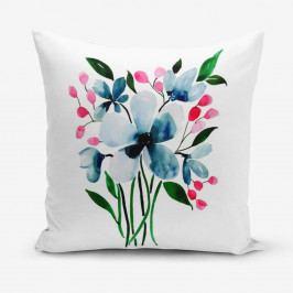 Povlak na polštář s příměsí bavlny Minimalist Cushion Covers Modern Flower, 45 x 45 cm
