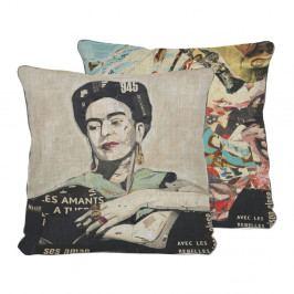 Oboustranný polštář Madre Selva Frida Collage, 45 x 45 cm