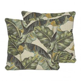 Oboustranný polštář Madre Selva Banana Palm, 45 x 45 cm
