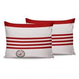 Sada 2 červeno-bílých bavlněných povlaků na polštáře Beverly Hills Polo Club Rojo, 50 x 70 cm