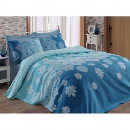 Lehce prošívaný bavlněný přehoz přes postel na jednolůžko Simay, 140 x 200 cm