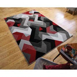 Koberec Flair Rugs Aurora Grey Red, 120 x 170 cm